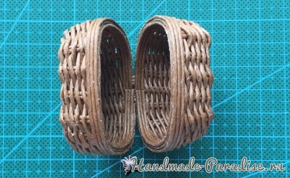 Плетение сумки из проволоки для куклы (10)