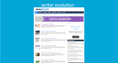 Writer Evolution Blogger Templates