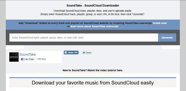Cara Direct Download Lagu dari SoundCloud dengan Mudah - SoundCloud Soundtake