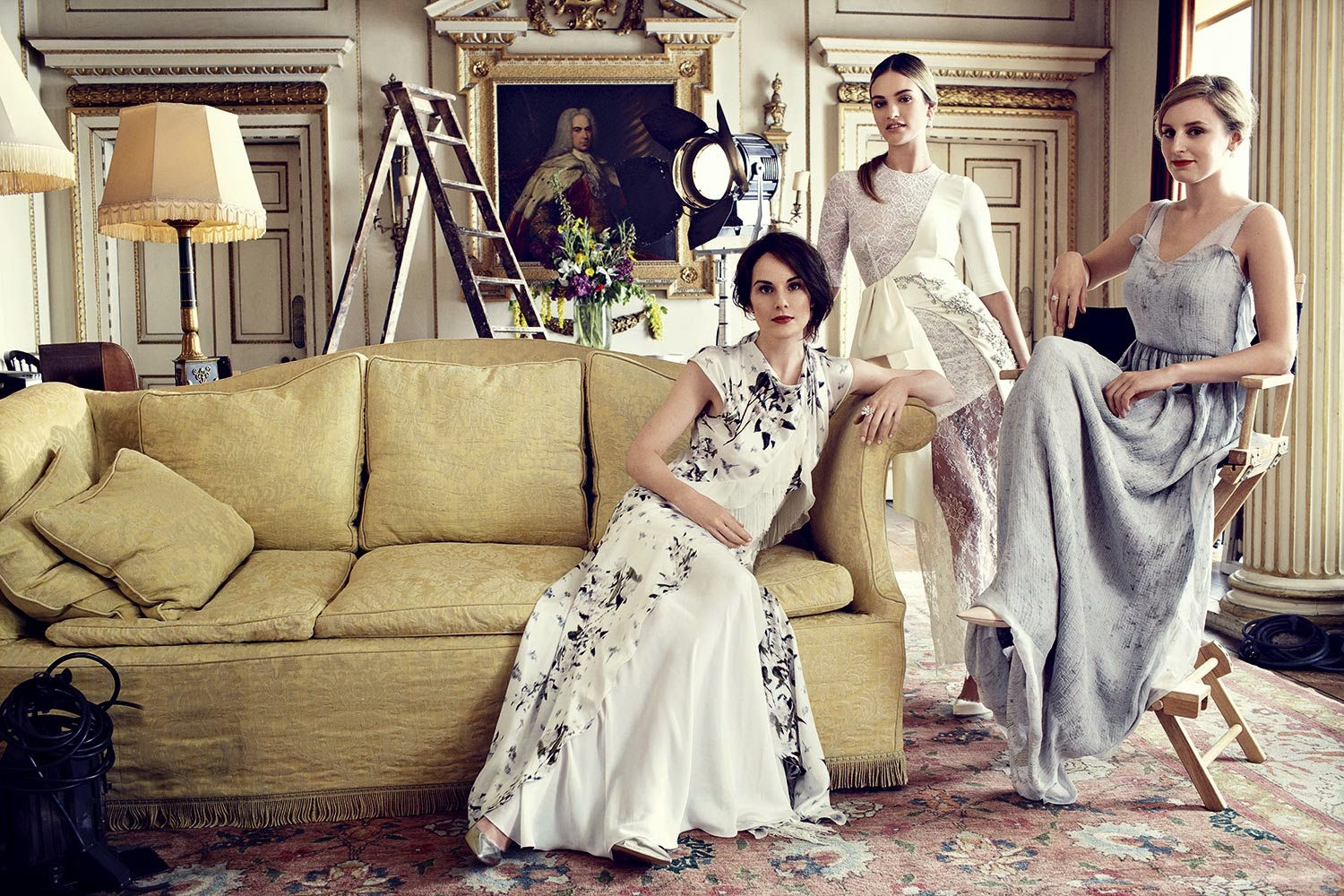 Burberry Home Decor Fashion Editorial Downton Abbey In Harper S Bazaar