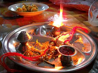 raksha bandhan deep rakhi aarti sindoor plate
