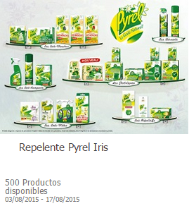 Producto gratis en toluna repelente pyrel iris