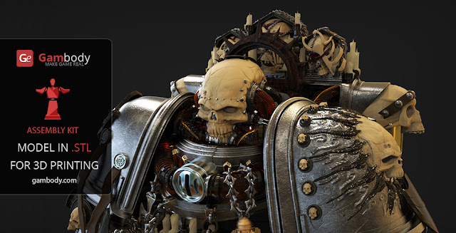 Warhammer40k Chaplain 3D printable model