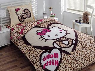Gambar Sprei Motif Hello Kitty yang Lucu 8