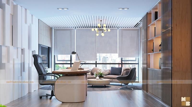 Thiết kế không gian nội thất phòng giám đốc lịch sự