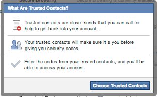 recover facebook account trusted contacts