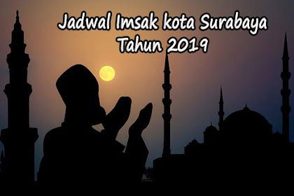 Jadwal Imsakiyah Hari Ini Wilayah Kota Surabaya Ramadhan 2019