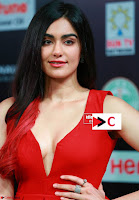Adah Sharma in Red Deep Neck Spicy Gown ~  Exclusive 06.jpg