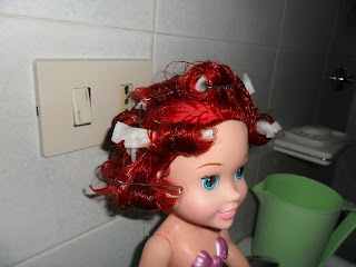 Curling disney doll hair