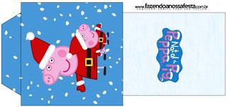 Bolsita de Té para imprimir gratis de Peppa Pig en Navidad.