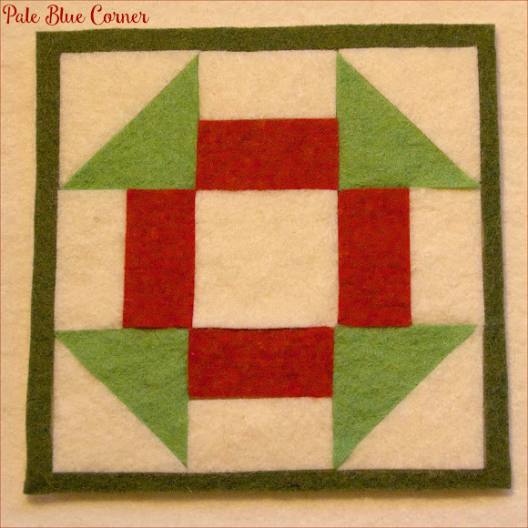 Felt Christmas Coasters, Churn Dash Block