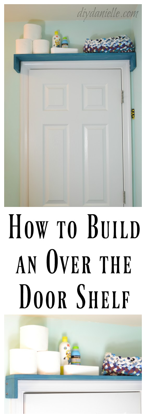 DIY Over the Door Bathroom Shelf