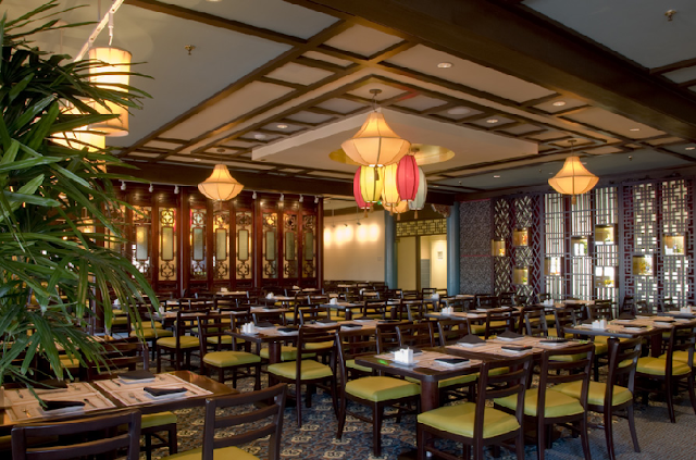 Restaurante Nine Dragons no Epcot na Disney em Orlando