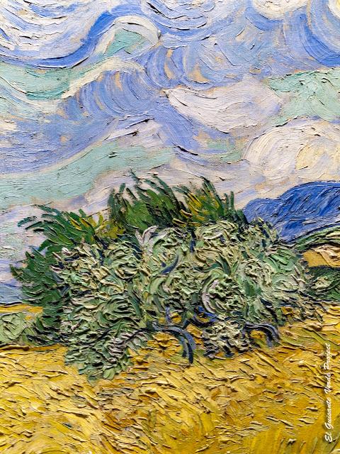 Van Gogh, Campo de Trigo con Cipreses (detalle) - MET, Nueva York por El Guisante Verde Project