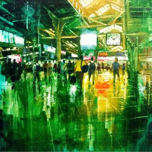 """pradarshak presents paintings by mahesh karambele"""