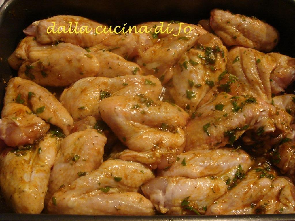 Dalla Cucina Di Jo Alette Di Pollo Marinate E Cotte Al Forno