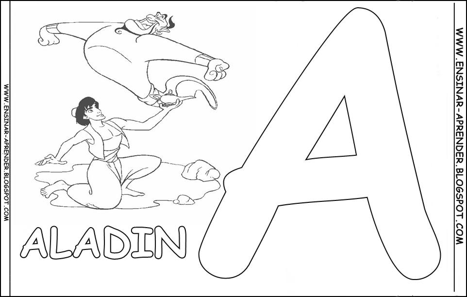Desenho De Letra Z De Zoológico Para Colorir: Jogo ALFABETO COM PERSONAGENS DE DESENHOS E FILMES