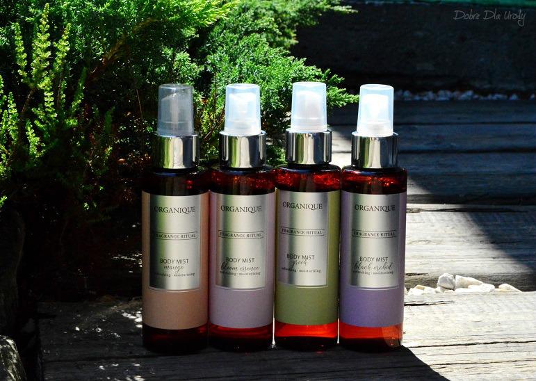 Rytuał zapachowy Organique ♥ Mgiełki do ciała - Mango, Czarna Orchidea, Bloom Essence i Grecka