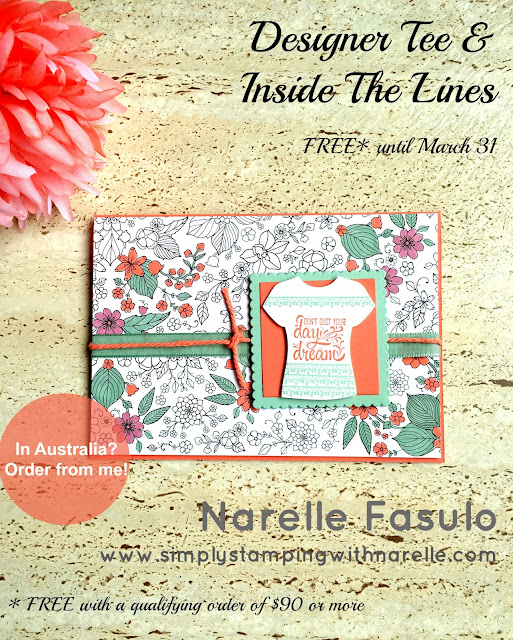 Designer Tee & Inside the Lines - Sale-A-Bration items you can earn for FREE with a minimum $90 order - Simply Stamping with Narelle - shop here - https://www3.stampinup.com/ecweb/default.aspx?dbwsdemoid=4008228