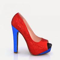 Pantofi dama rosii cu sclipici ( )