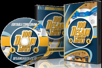 100 Desain BROSUR Lipat 3 CDR