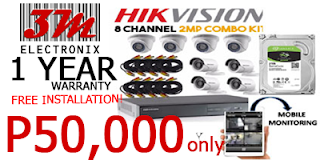 CCTV PACKAGE PHILIPPINES 4 HIKVISION dome camera bullet camera 3m electronix cebu philippines