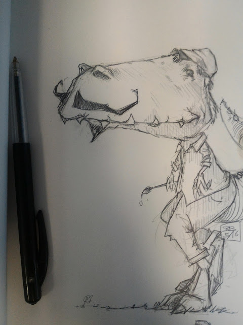 Tyrannosaure moustachu