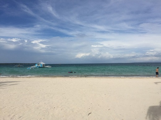 Sta. Fe beach in Bantayan Island in Cebu