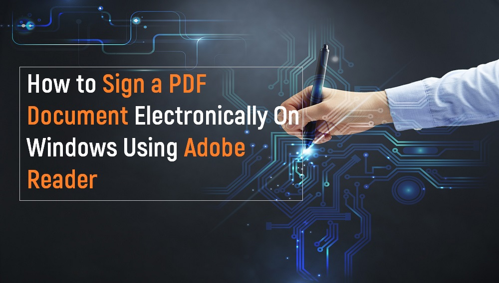 Sign a PDF Electronically
