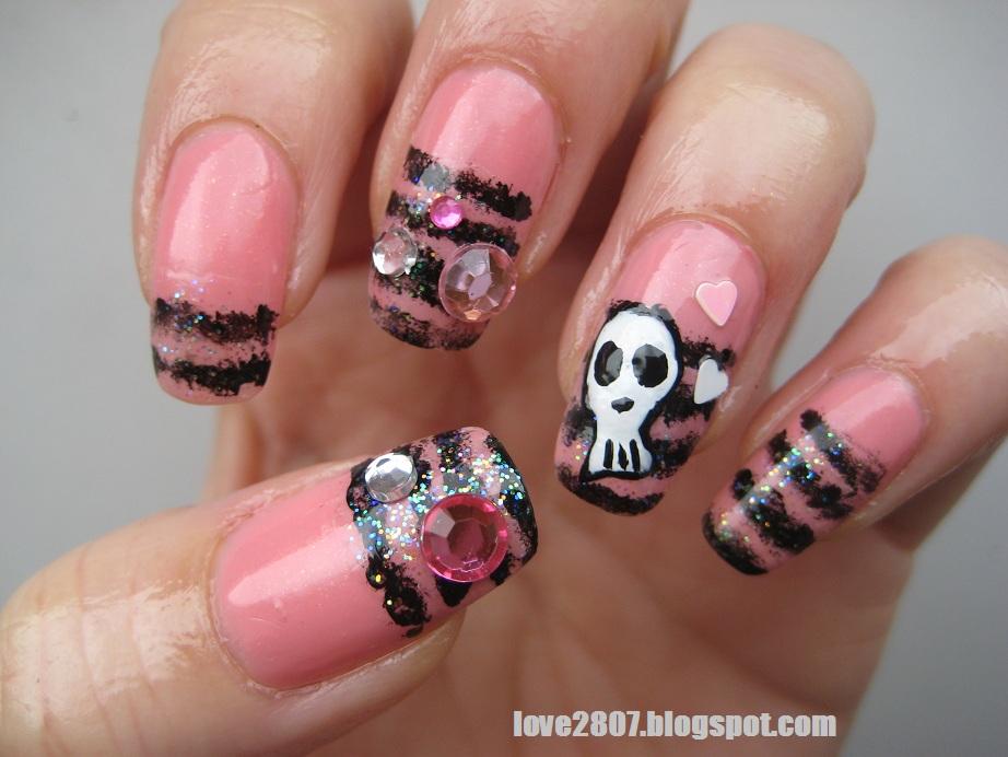 nailove2807 nail art design cute and rockish