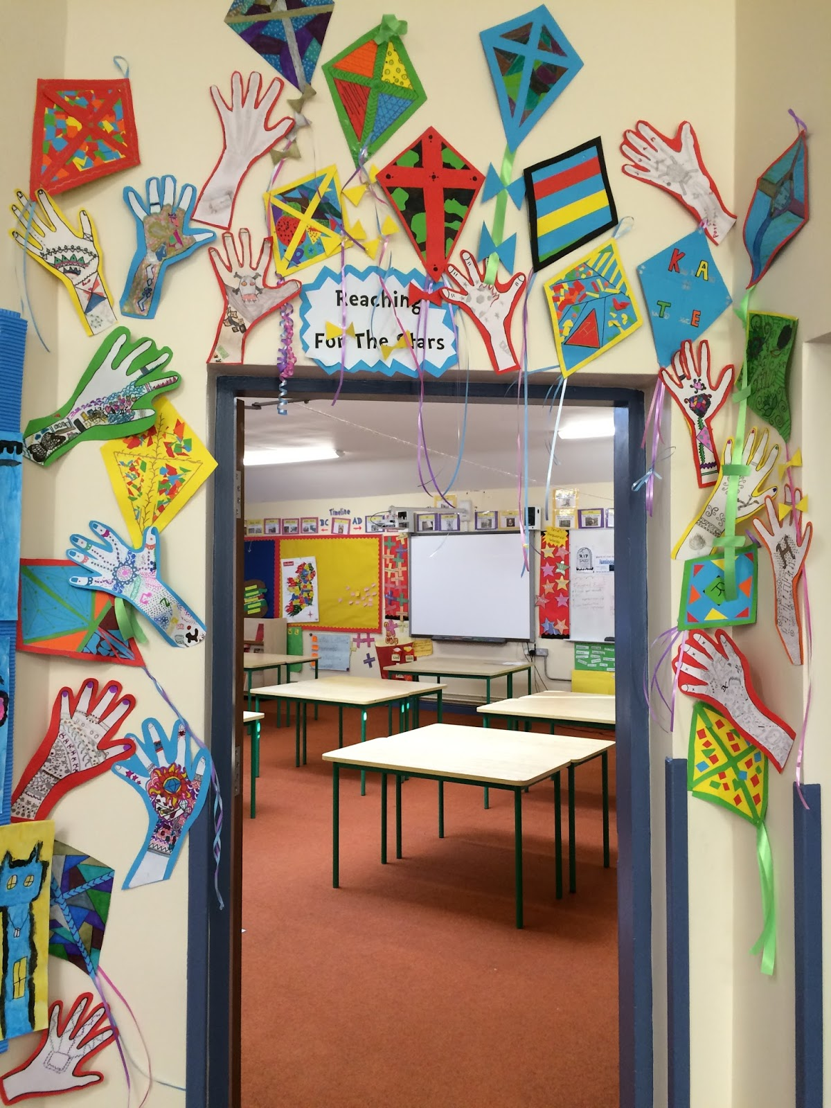 Classroom Entrance Ideas ~ Ms wards classroom reach for the stars door display