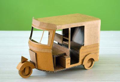 Cómo hacer un Rickshaw de cartón