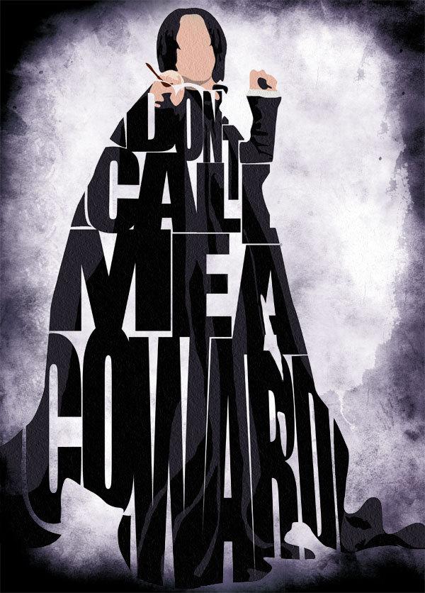 Alan Rickman as Professor Severus Snape in The Harry Potter franchise