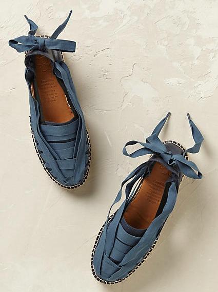 alpargatas azul cobalto de cintas