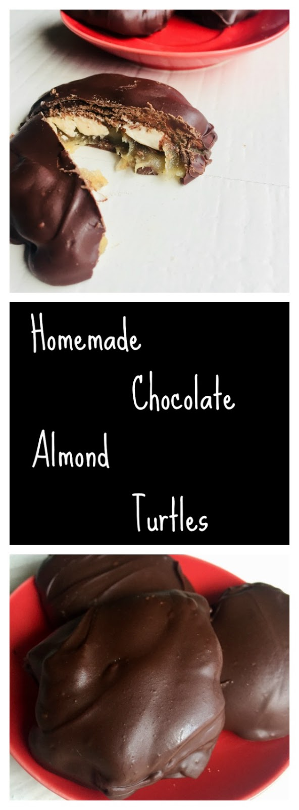 Homemade Chocolate Almond Turtles