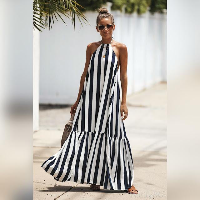 Μοντέρνο  άσπρο με μαύρο φόρεμα TONINA