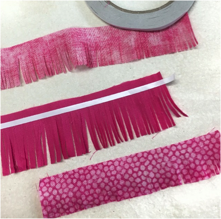 how to make fabric tassels, silhouette cameo project ideas, silhouette cameo fabric projects