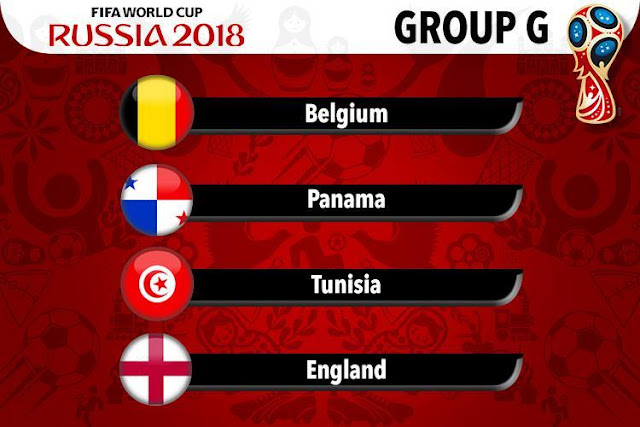 FIFA World Cup 2018 Group G Teams