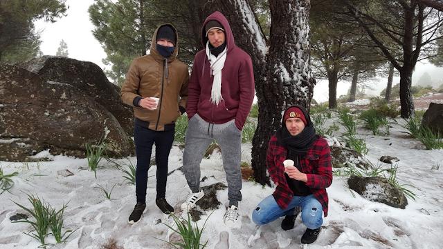 fotos nieve cumbre Gran Canaria 18 febrero
