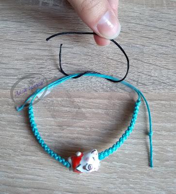 Regulowana bransoletka ze sznurka DIY