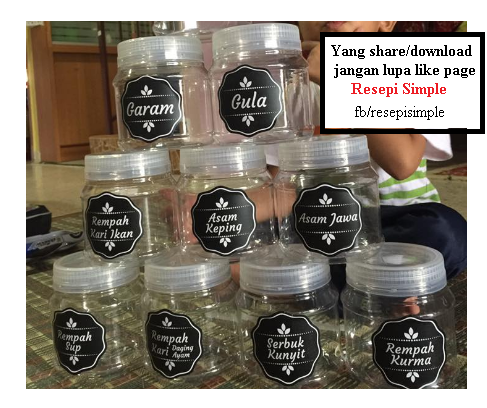 Sticker Label Barang Dapur