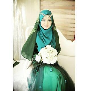 Baju penagntin muslim syar'i trendy