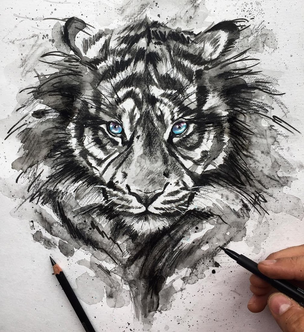 06-Bengal-Tiger-Liam-James-Cross-Wild-Animals-Drawings-and-Paintings-www-designstack-co