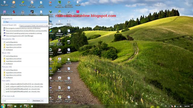 gambar tutorial menghilangkan virus shortcut