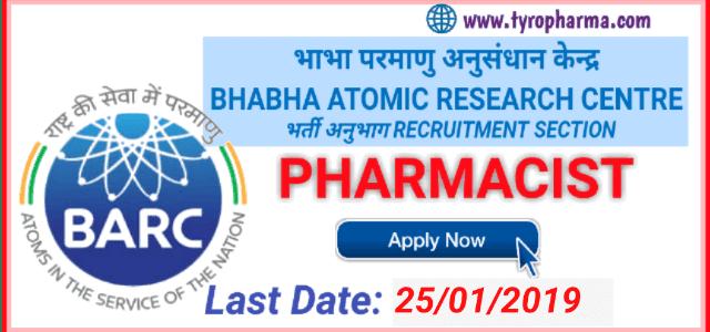Pharmacist job in Bhabha Atomic Research Centre (BARC)