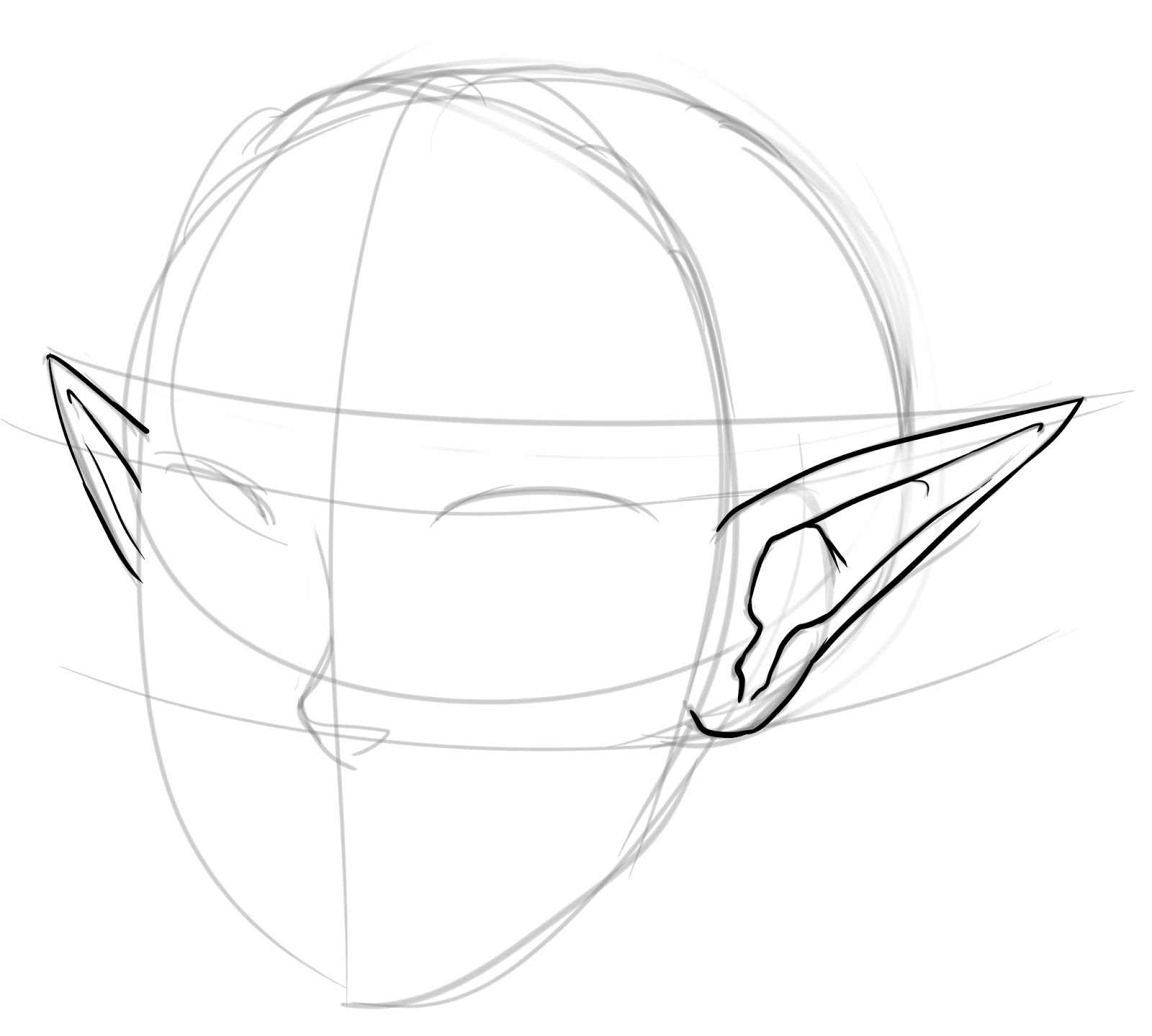 This is a photo of Delicate Drawing Anime Ears