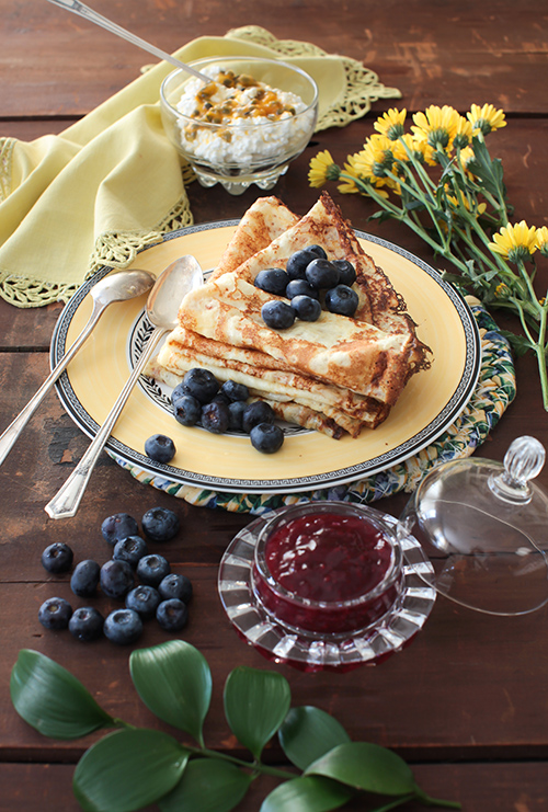 "Crepes%2B2 - ""Blini"" - Vanilla Crepes with Berries"