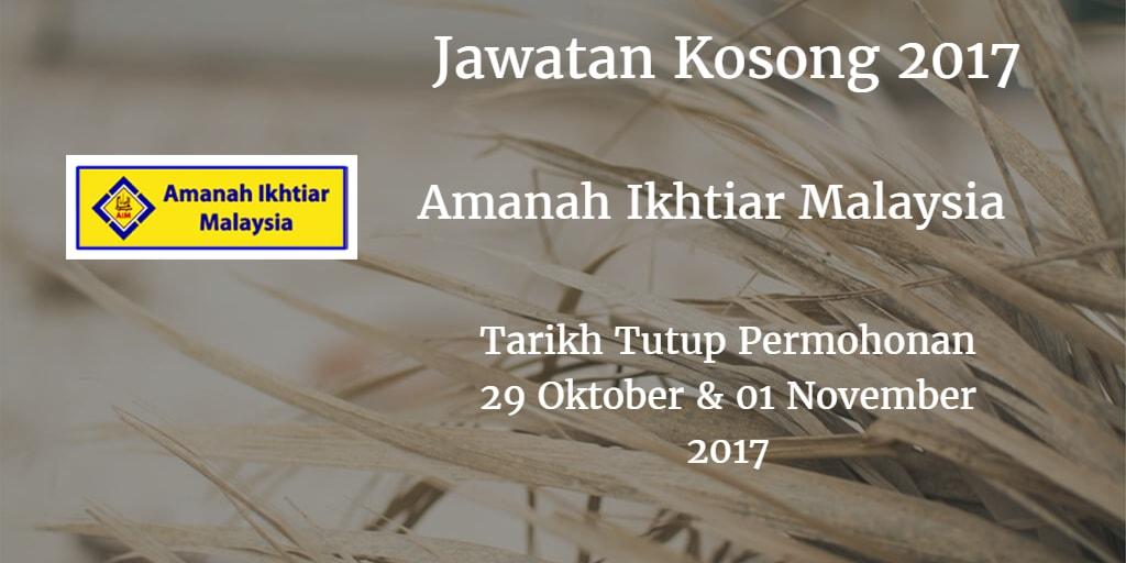 Jawatan Kosong Amanah Ikhtiar Malaysia 29 Oktober & 01 November 2017