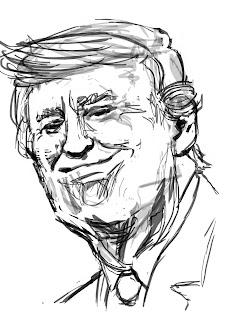 presidente, caricatura trump, caricatura digital, caricature trump, barack obama, lumattiello