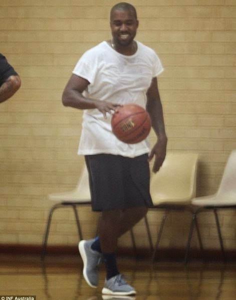 4ab79b8e0c004 THE SNEAKER ADDICT  Kanye West Playing Basketball in adidas Pure ...
